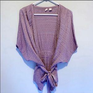 Moth Anthropologie | Lavender wrap knit cardigan